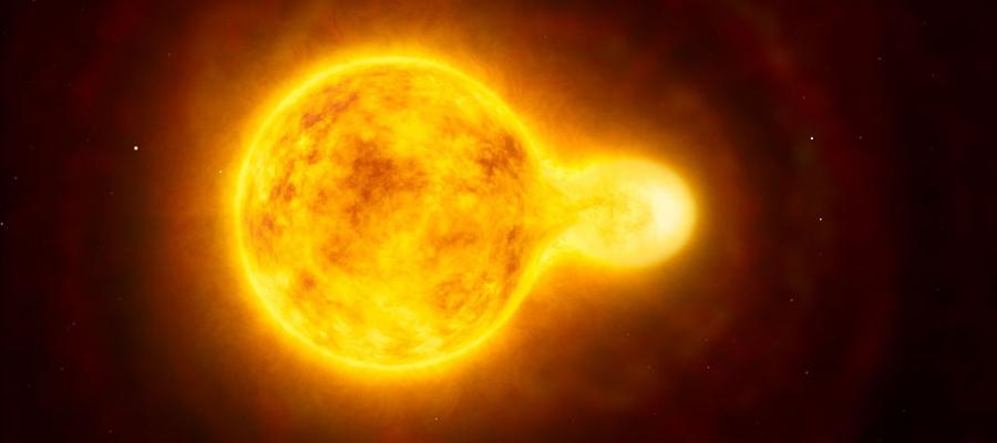 Künstlerische Darstellung des Doppelsternsystems HR 5171.   Foto: ESO