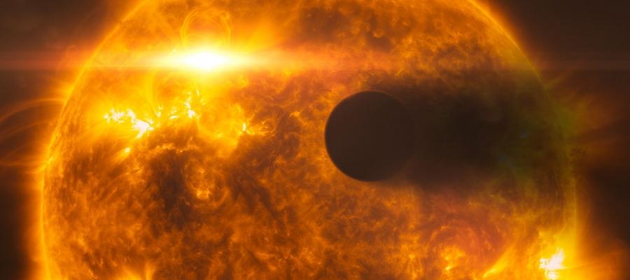 Künstlerische Darstellung eines Exoplaneten vor dem Stern HD 189733A als Symbolbild. | Foto: ESA/Hubble