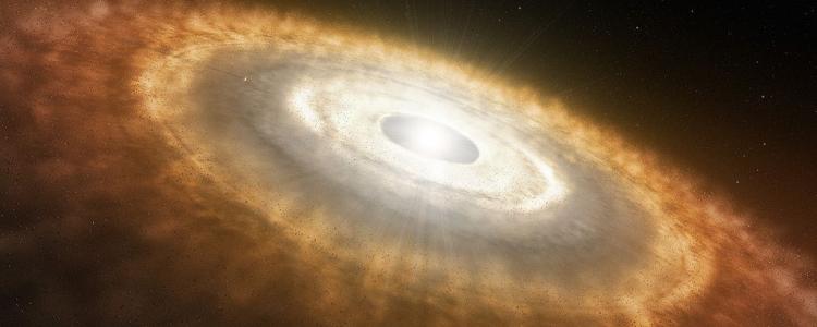 Künstlerische Darstellung eines jungen Sterns mit einer protoplanetaren Scheibe | Foto: ESO/L. Calçada