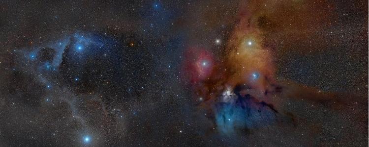 Das Sternentstehungsgebiet rund um das Doppelstern-System Rho Ophiucus | Foto: Rogelio Bernal Andreo